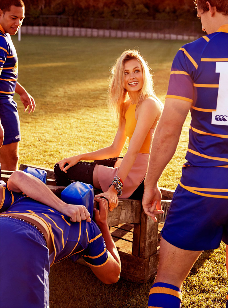 Isabelle S is Sporty Glam for Shop Australia Shoot by Steven Chee