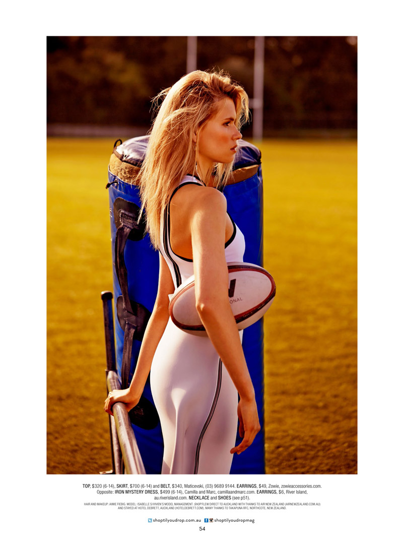 rugby fashion5 Isabelle S is Sporty Glam for Shop Australia Shoot by Steven Chee