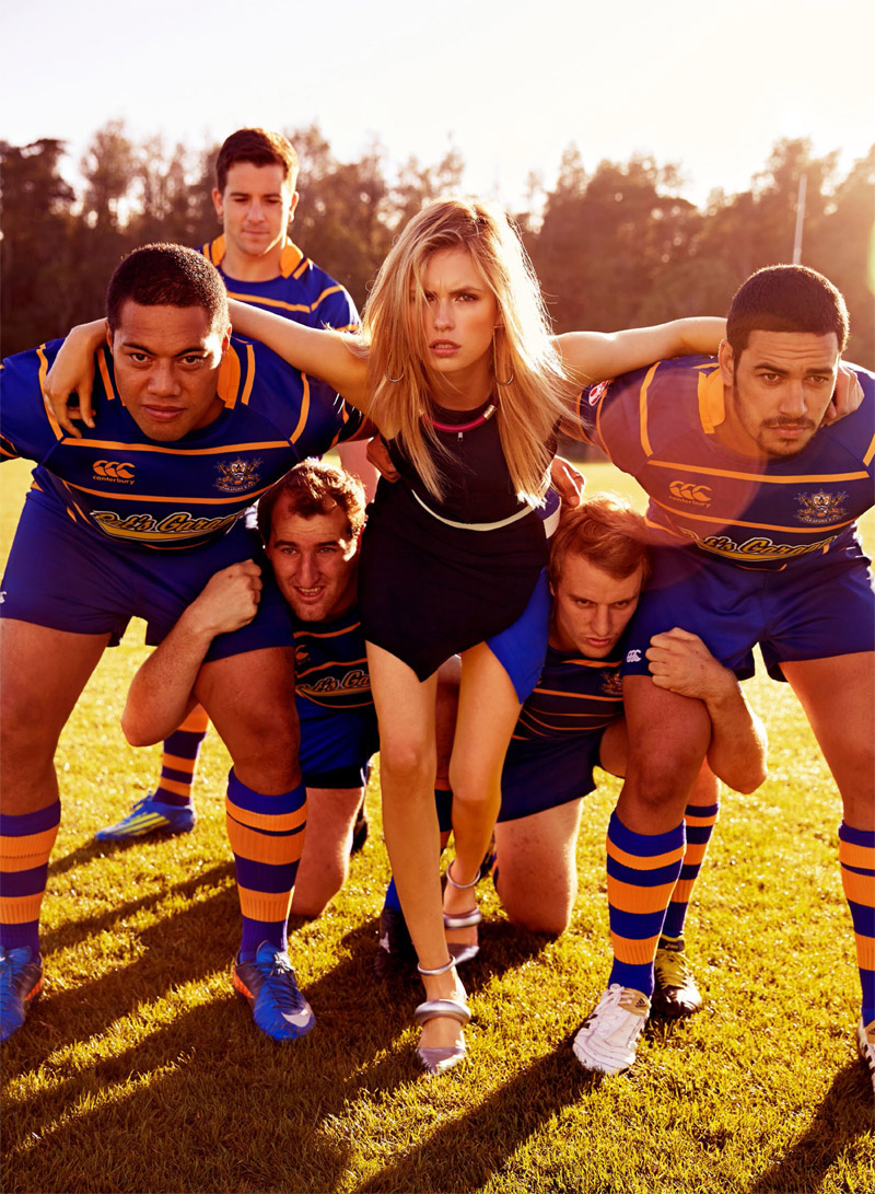 rugby fashion6 Isabelle S is Sporty Glam for Shop Australia Shoot by Steven Chee