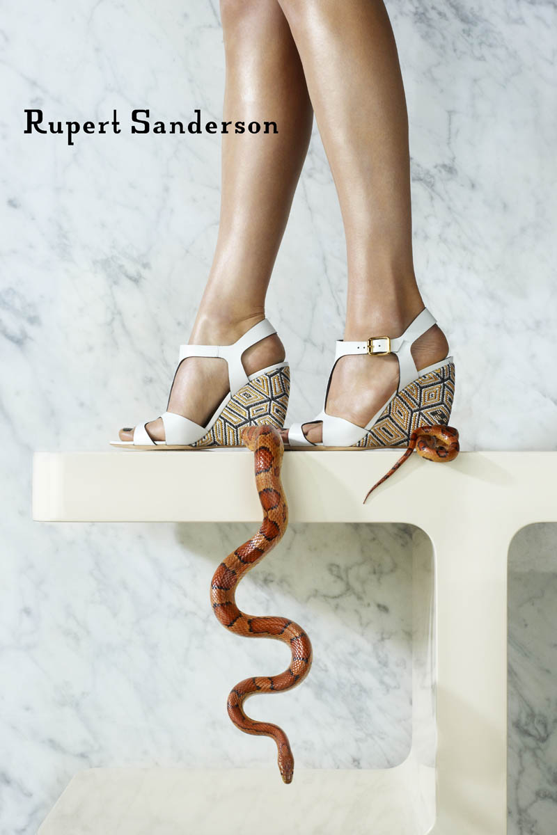 rupert sanderson spring 2014 campaign4 Rupert Sanderson Features Snakes in His Spring 2014 Campaign