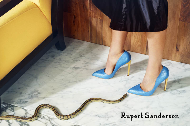 rupert sanderson spring 2014 campaign6 Rupert Sanderson Features Snakes in His Spring 2014 Campaign