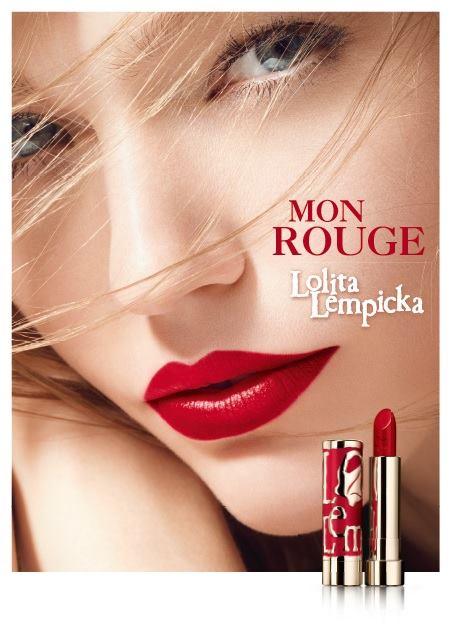 """Sasha Pivovarova Stars in Lolita Lempicka """"Mon Rouge"""" Campaign"""