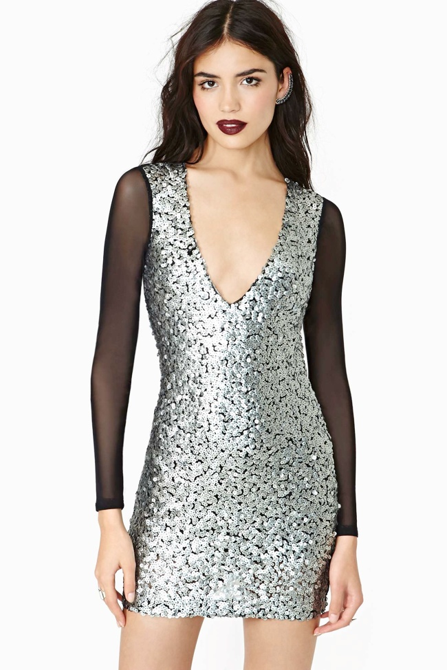 sequins dress 7 Metallic Dresses for New Years Eve