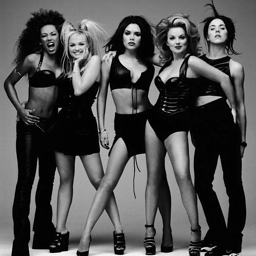 spice girls black white 90s Flashback: Victoria Beckhams Style as Posh Spice