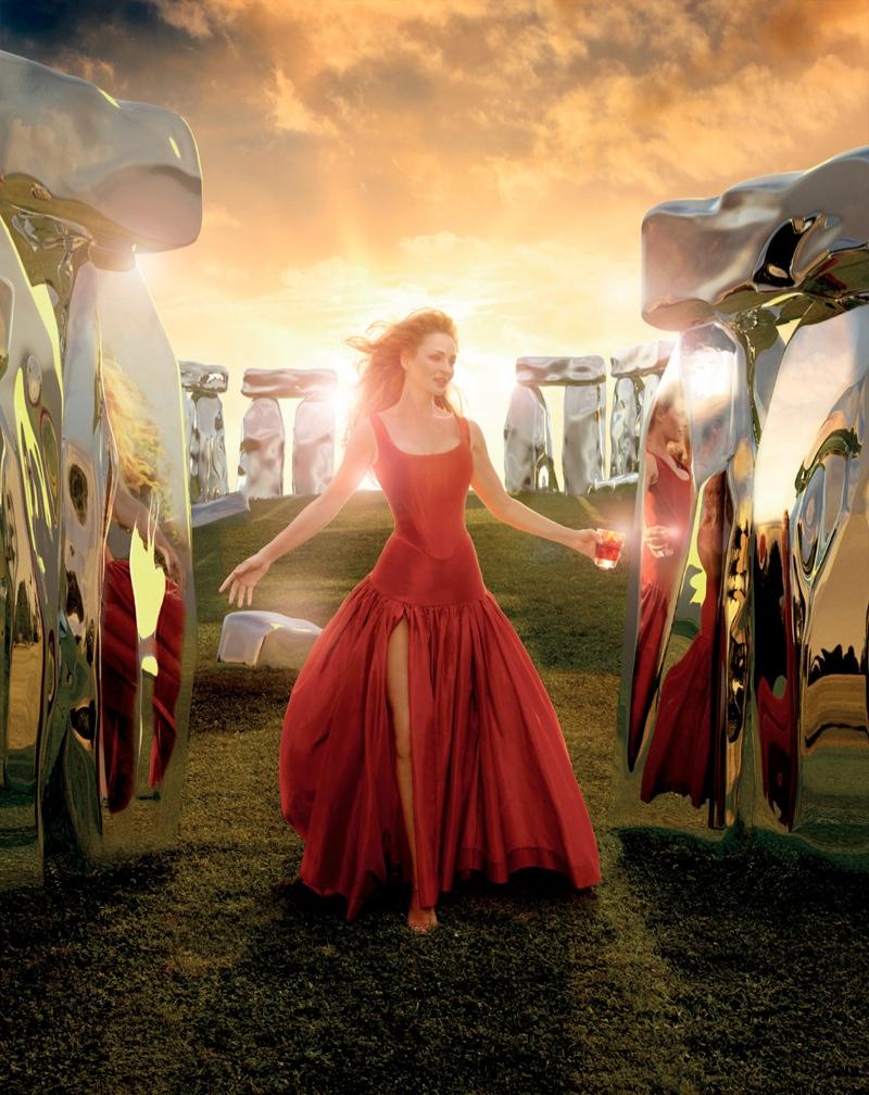Uma Thurman Travels the Globe for Campari's 2014 Calendar