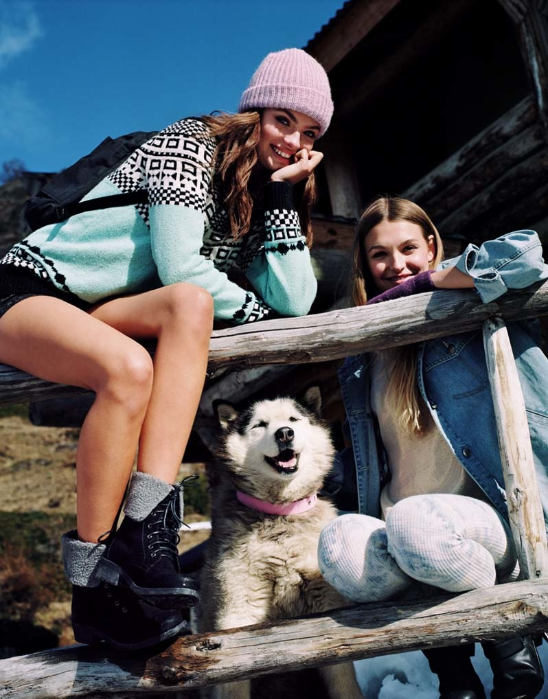 uo winter shoot2 Moa Aberg + Roosmarijn de Kok for Urban Outfitters Holiday 2013