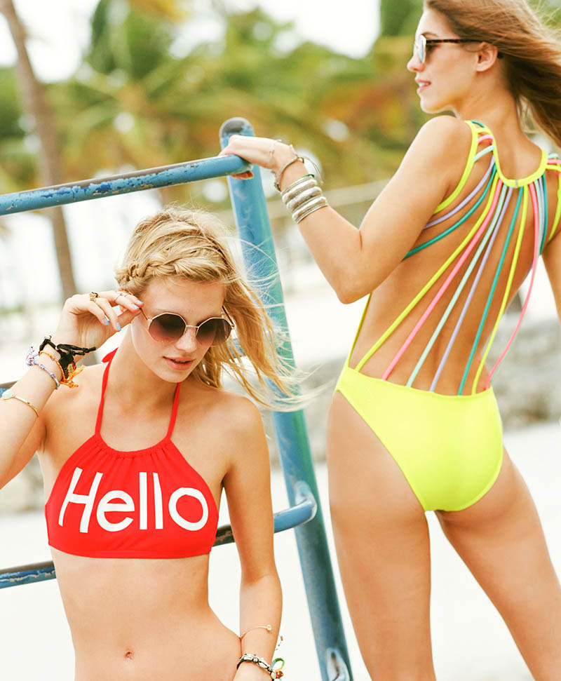 Samantha Gradoville + Nadine Leopold Star in Urban Outfitters Swim Shoot