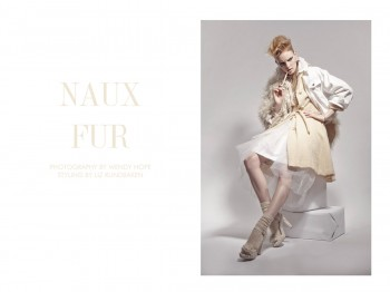"""Clara Settje by Wendy Hope in """"Naux Fur"""" for Fashion Gone Rogue"""