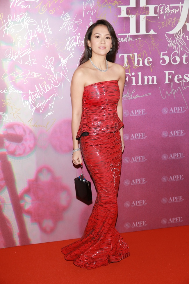 Zhang Ziyi Wears Armani Prive at the Asia-Pacific Film Festival