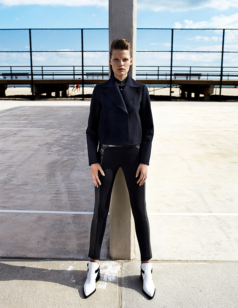 Bekah Jenkins Dons Menswear Inspired Style for Zoltan Tombor in Schon