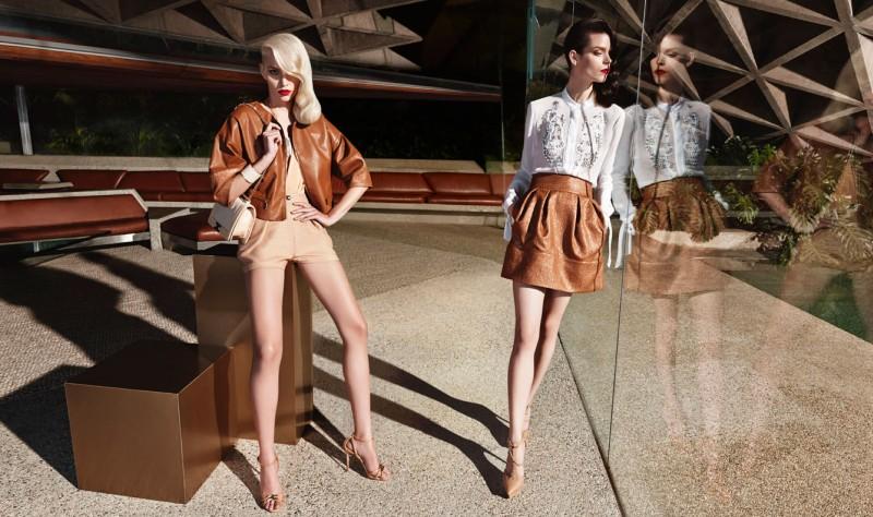 Elisabetta Franchi Spring Campaign 4 Meghan Collison + Aline Weber for Elisabetta Franchi Spring/Summer 2014 Campaign