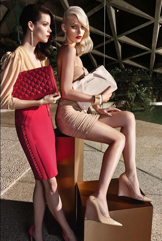 Meghan Collison + Aline Weber for Elisabetta Franchi Spring/Summer 2014 Campaign