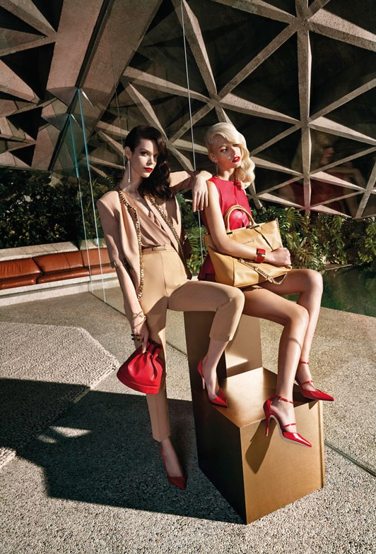 Elisabetta Franchi Spring Campaign 8 Meghan Collison + Aline Weber for Elisabetta Franchi Spring/Summer 2014 Campaign