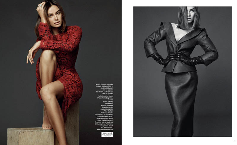 Kasia Smutniak Stars in Harper's Bazaar Poland Jan/Feb Cover Story