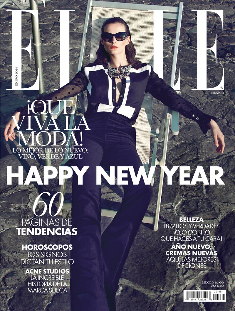 Sibui Nazarenko Stars in Elle Mexico January 2014 by Federica Putelli