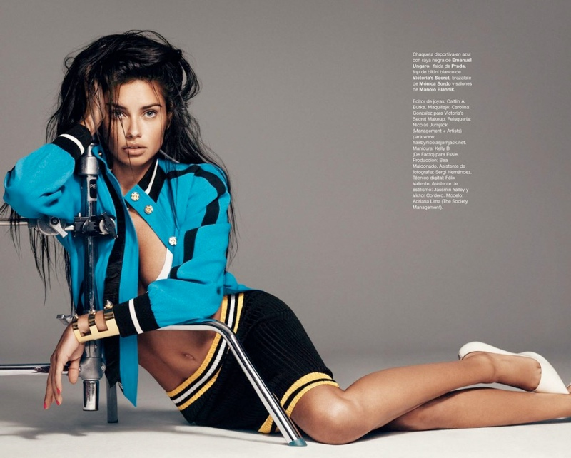 adriana lima photo shoot 2 Adriana Lima Wows for February 2014 Cover Shoot of Harpers Bazaar Spain