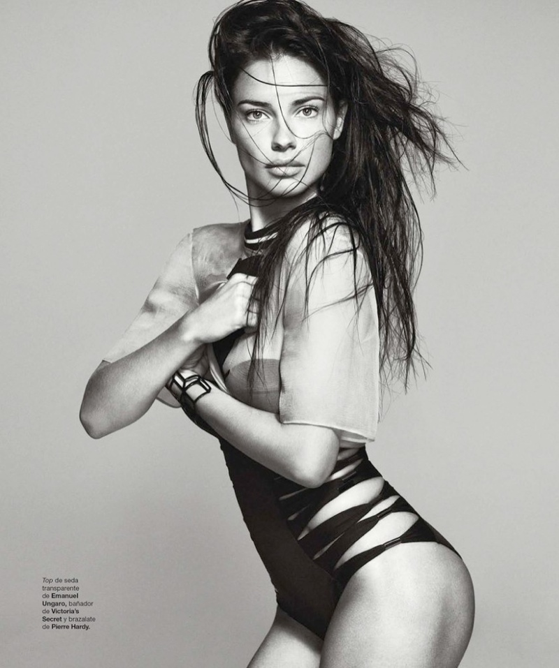 adriana lima photo shoot 3 Adriana Lima Wows for February 2014 Cover Shoot of Harpers Bazaar Spain