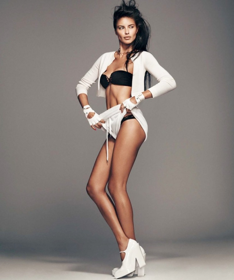 adriana lima photo shoot 4 Adriana Lima Wows for February 2014 Cover Shoot of Harpers Bazaar Spain