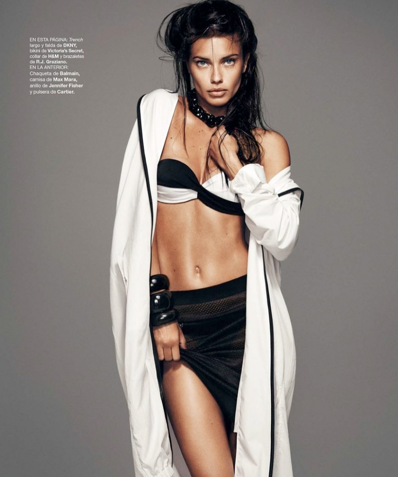 adriana lima photo shoot 6 Adriana Lima Wows for February 2014 Cover Shoot of Harpers Bazaar Spain