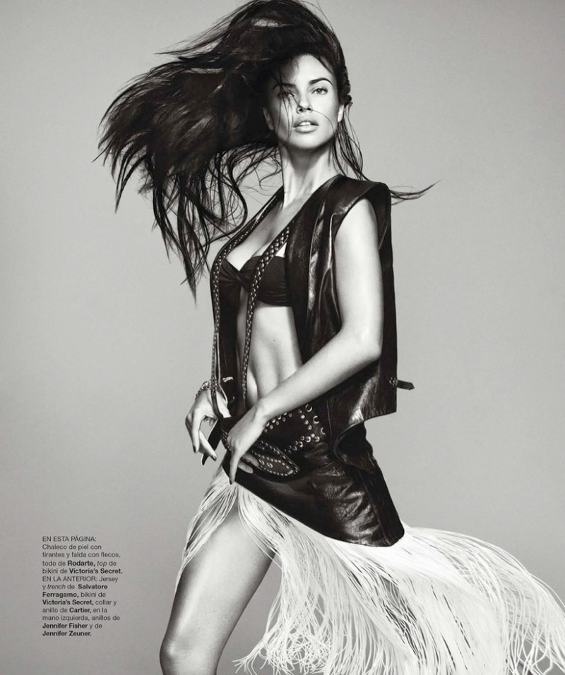 Adriana Lima Wows for February 2014 Cover Shoot of Harper's Bazaar Spain