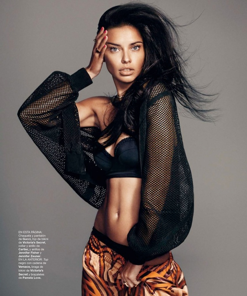 adriana lima photo shoot 9 Adriana Lima Wows for February 2014 Cover Shoot of Harpers Bazaar Spain