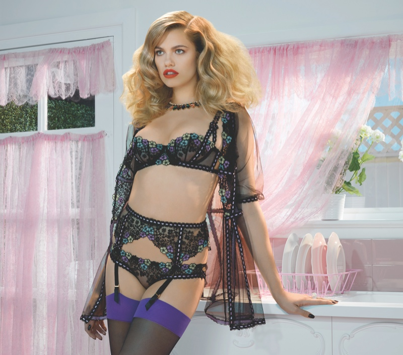 agent provocateur spring 2014 campaign7 Hailey Clauson Plays 50s Housewife for Agent Provocateur Spring Campaign