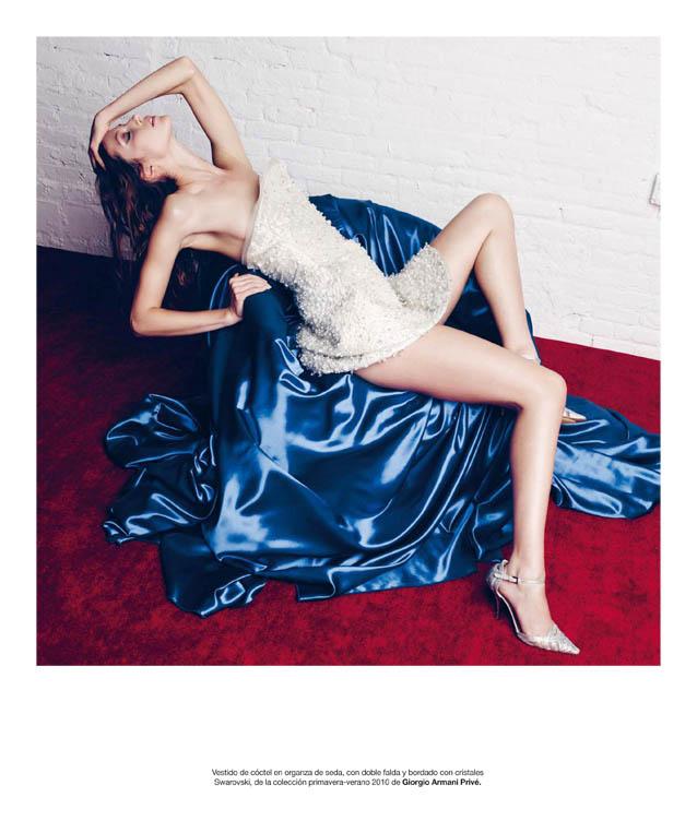 Alana Zimmer Models Armani Privé for Bazaar Spain by Nagi Sakai