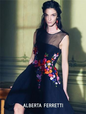 Mariacarla Boscono Poses for Alberta Ferretti Spring/Summer 2014 Campaign