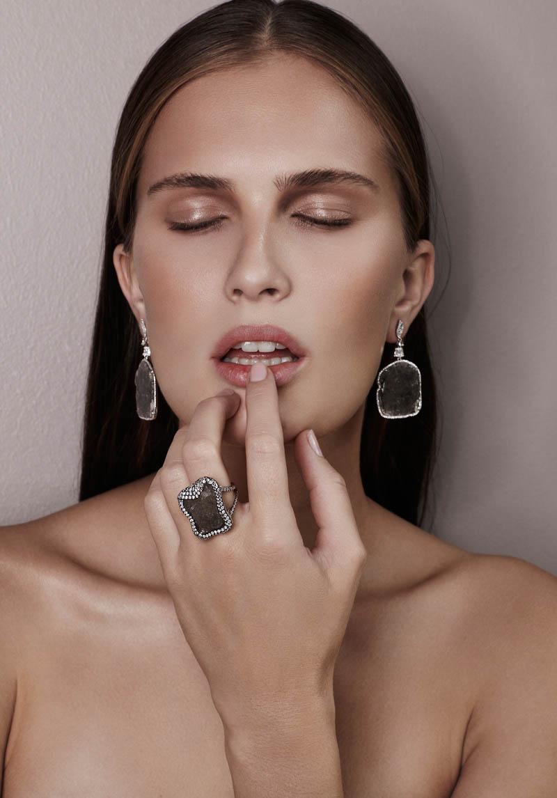 alla saqqara jewelry1 Alla Kostromichova Fronts Saqqara Jewelry Campaign by Kate Martin