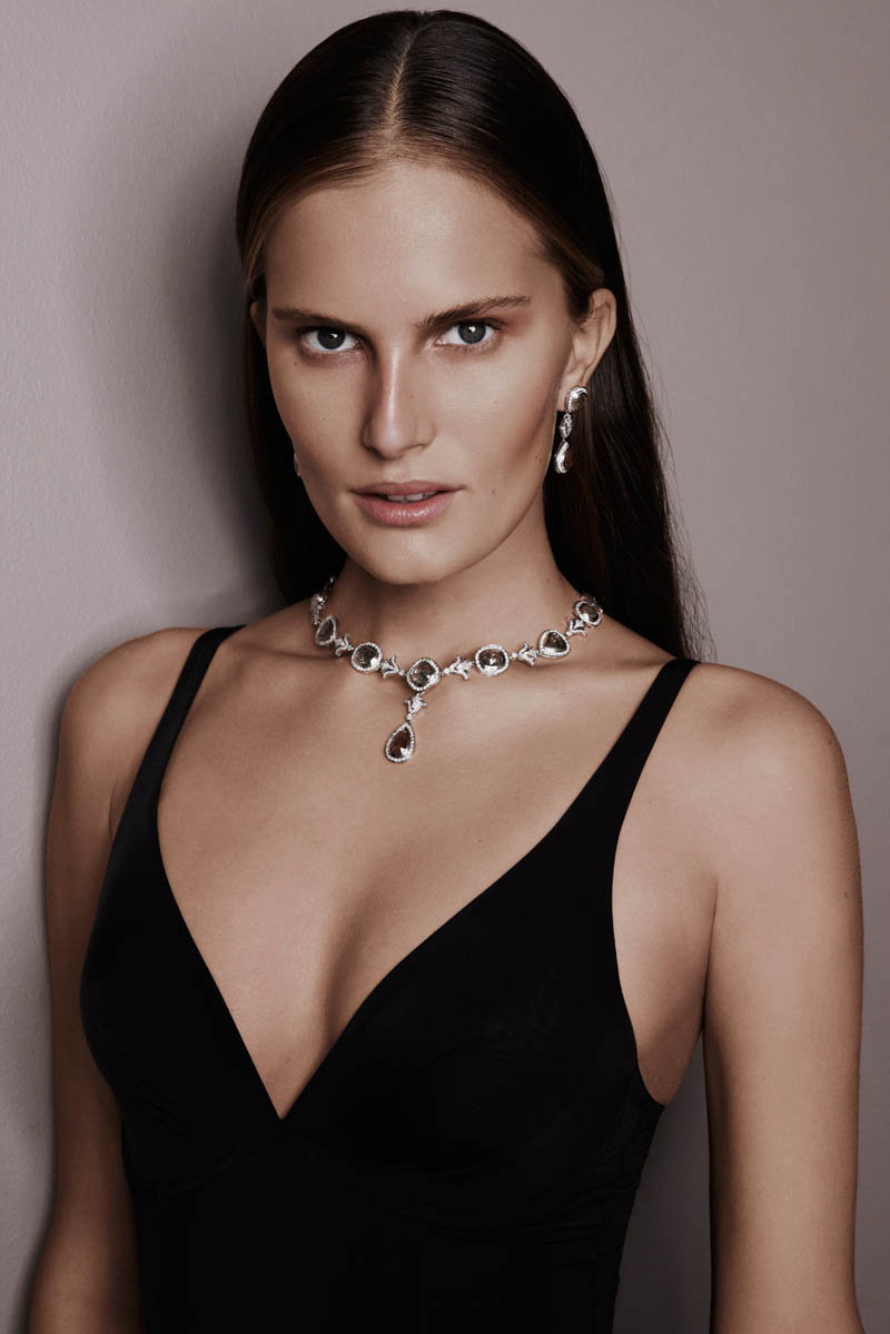 alla saqqara jewelry10 Alla Kostromichova Fronts Saqqara Jewelry Campaign by Kate Martin