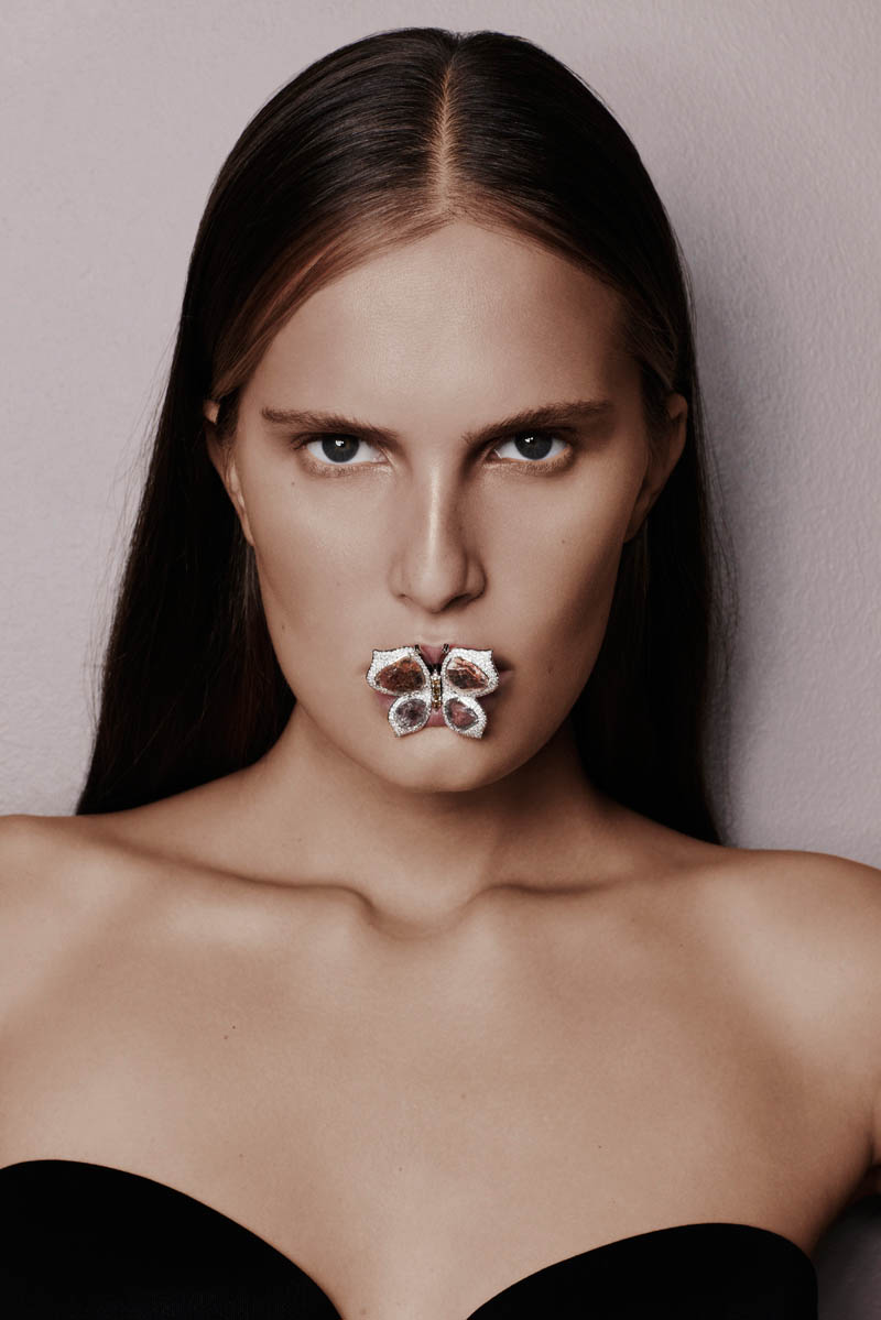 alla saqqara jewelry3 Alla Kostromichova Fronts Saqqara Jewelry Campaign by Kate Martin