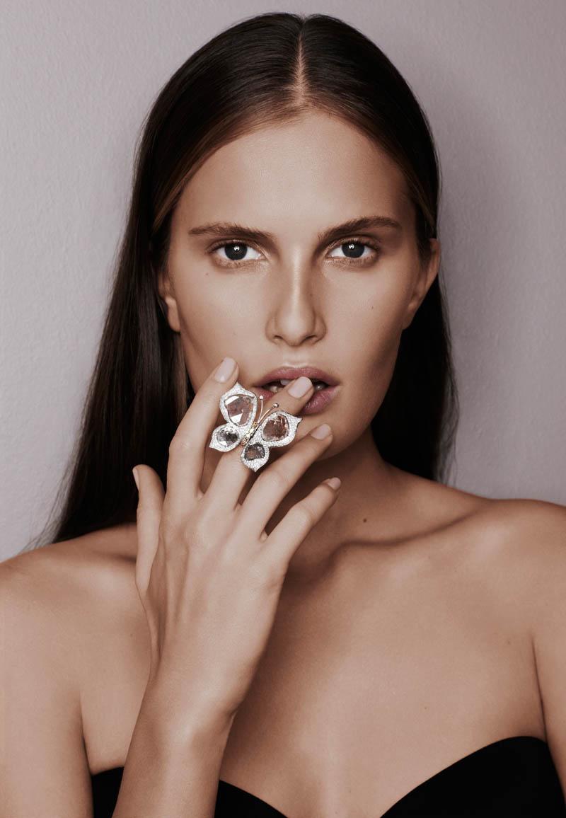 alla saqqara jewelry4 Alla Kostromichova Fronts Saqqara Jewelry Campaign by Kate Martin