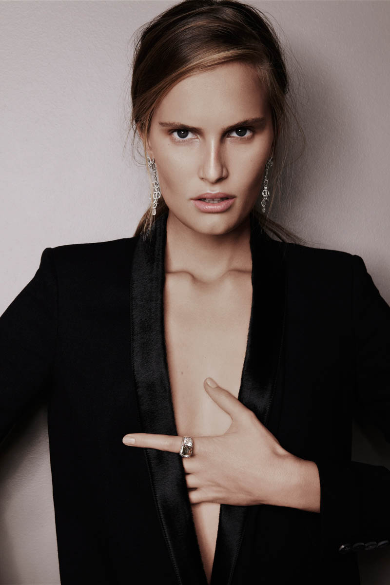 alla saqqara jewelry5 Alla Kostromichova Fronts Saqqara Jewelry Campaign by Kate Martin