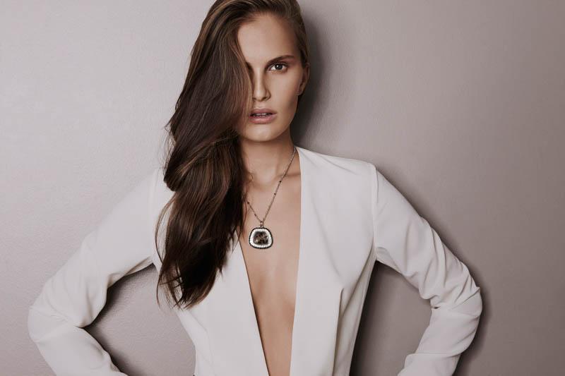 alla saqqara jewelry8 Alla Kostromichova Fronts Saqqara Jewelry Campaign by Kate Martin
