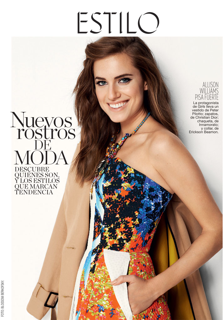 allison williams1 Allison Williams Poses for Blossom Berkofsky in Glamour Spain