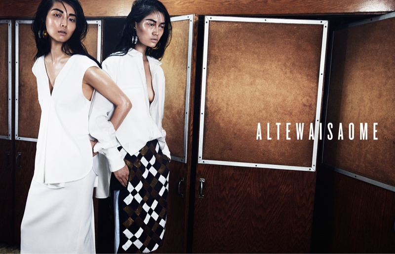 altewaisaome spring 2014 campaign4 Sung Hee Kim + Feng Qi Wen Front ALTEWAISAOME Spring/Summer 2014 Campaign
