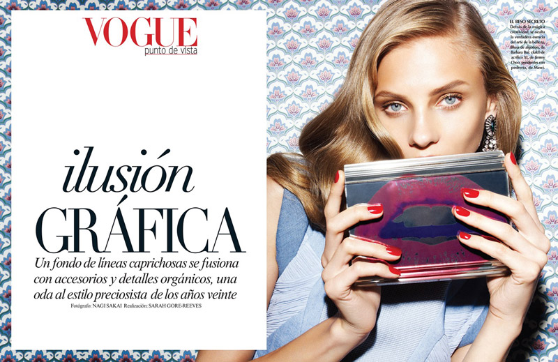 Anna Selezneva Models Spring Style for Vogue Latin America Spread