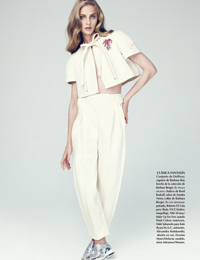 anna selezneva photo shoot10 Anna Selezneva Models Spring Style for Vogue Latin America Spread