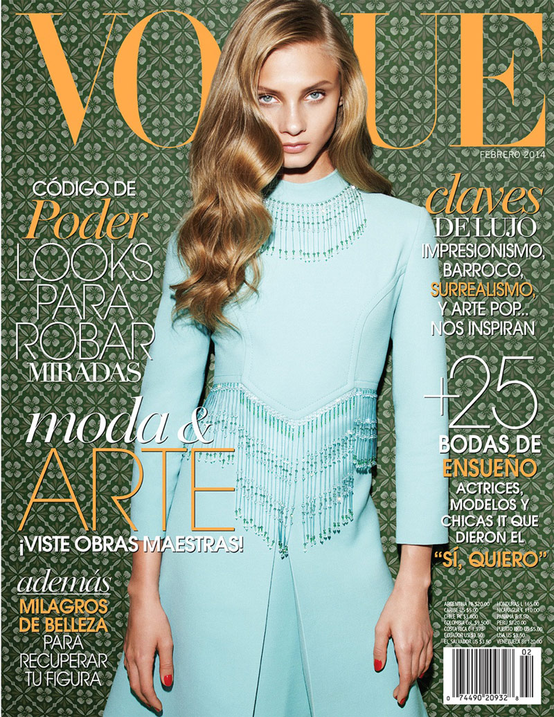 anna selezneva photo shoot12 Anna Selezneva Models Spring Style for Vogue Latin America Spread