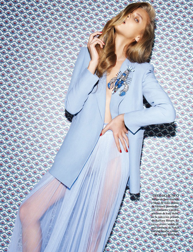 anna selezneva photo shoot6 Anna Selezneva Models Spring Style for Vogue Latin America Spread