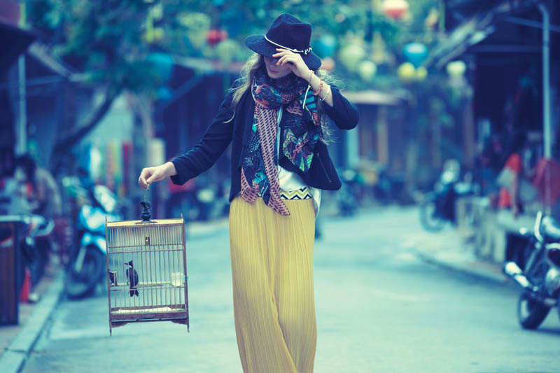 anthropologie catalog 2 Eniko Mihalik Poses in Vietnam for Anthropologie Shoot by Diego Uchitel