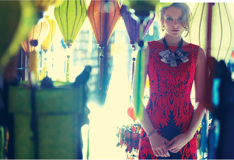 anthropologie catalog 3 Eniko Mihalik Poses in Vietnam for Anthropologie Shoot by Diego Uchitel