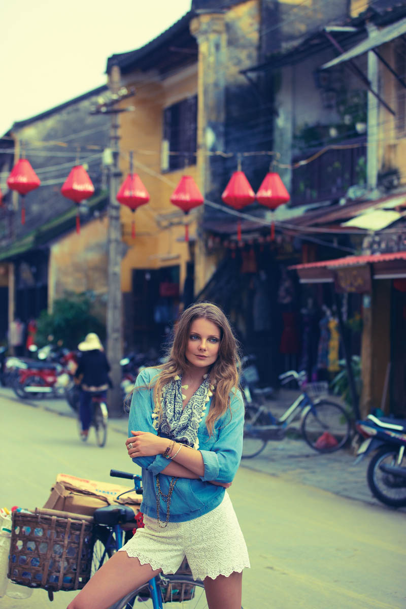 anthropologie catalog 6 Eniko Mihalik Poses in Vietnam for Anthropologie Shoot by Diego Uchitel