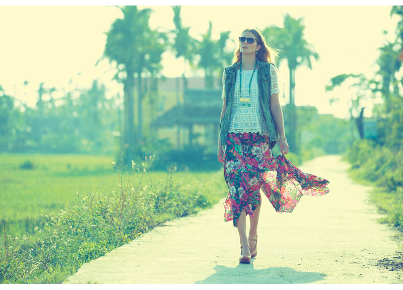 anthropologie catalog 9 Eniko Mihalik Poses in Vietnam for Anthropologie Shoot by Diego Uchitel
