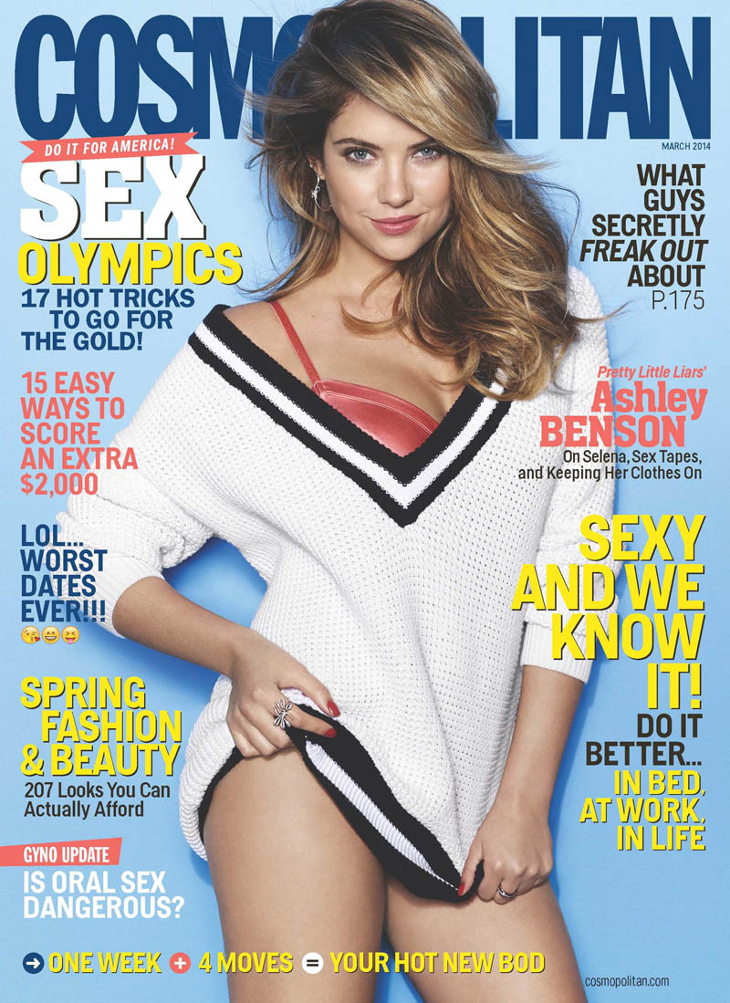 ashley benson cosmopolitan4 Ashley Benson Covers Cosmopolitan, Speaks on Pressure to Go Nude