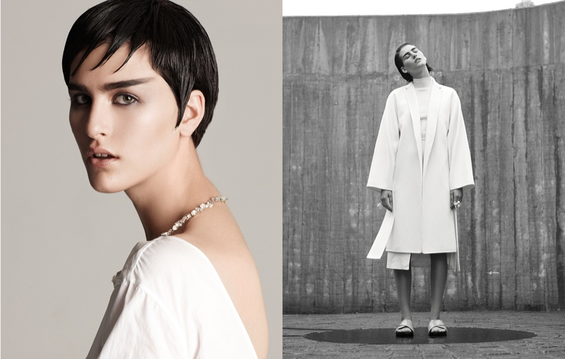 athena white fashion2 Athena Wilson Gets Minimal for Manolo Campion in Harpers Bazaar Latin America