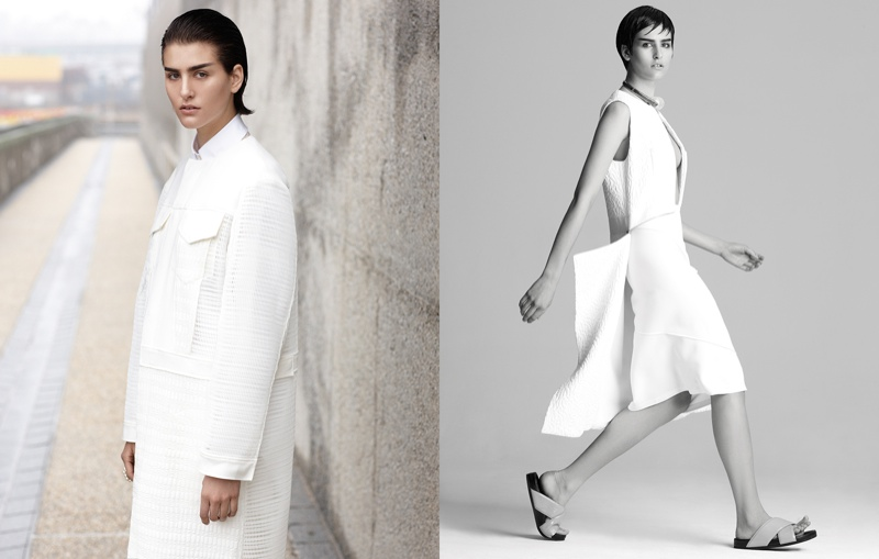 athena white fashion3 Athena Wilson Gets Minimal for Manolo Campion in Harpers Bazaar Latin America