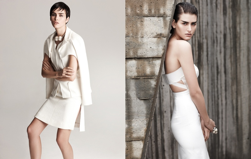 athena white fashion5 Athena Wilson Gets Minimal for Manolo Campion in Harpers Bazaar Latin America
