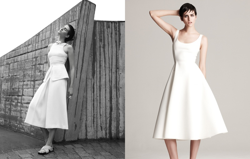 athena white fashion7 Athena Wilson Gets Minimal for Manolo Campion in Harpers Bazaar Latin America