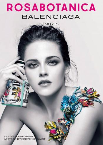 Kristen Stewart Poses for Balenciaga 'Rosabotanica' Fragrance Campaign